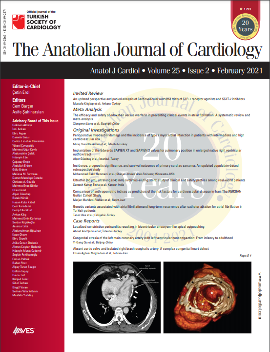 The Anatolian Journal of Cardiology